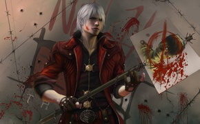 Картинка игры, оружие, обои, Dante, DMC, Данте, game wallpapers, Devil may cry 5, new version, меч-трансформер, …