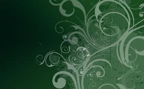 Картинка цветы, зеленый, узор, текстура