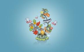 Обои особенный, Минимализм, цветок