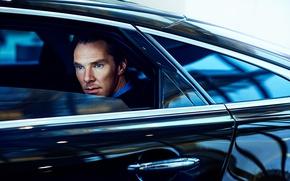 Картинка Benedict Cumberbatch, Бенедикт Камбербэтч, мужчина, автомобиль