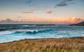 Картинка море, волны, небо, облака