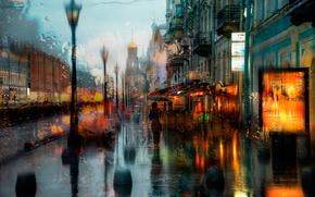 Картинка капли, дождь, Санкт-Петербург, храм, Спас на Крови