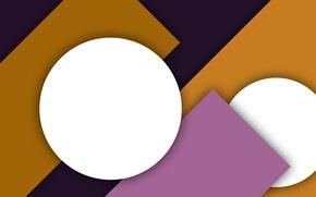 Картинка белый, фиолетовый, желтый, абстракция, геометрия, design, color, material, сиреневый фон