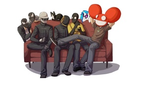 Картинка Daft Punk, thomas bangalter, deadmau5, Guy-Manuel de Homem-Christo, Joel Thomas Zimmerman