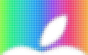 Обои радуга, компьютер, apple, цвет, яблоко, mac, ячейки, телефон, гаджет