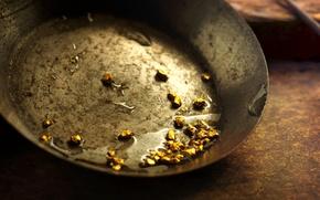 Картинка metal, gold, water, satin