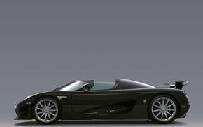 Картинка черный, supercar, вид сбоку, carbon, CCXR, Koenigsegg CCXR