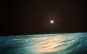 Картинка space, star, planet, darkness, starkiteckt