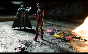 Картинка Batman, photographer, Iron Man, Marvel, комедия, мятый, Человек Утюг, Ватман, сейчас, разгладит, Lukasz Derengowski