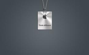 Картинка серый, apple, лого, mac, Think Different