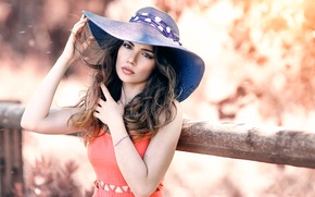 Обои Alessandro Di Cicco, A soft touch, губки, макияж, шляпка