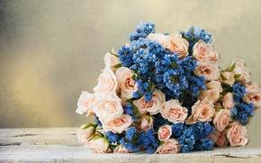 Картинка цветок, розы, букет, flower, bouquet, roses