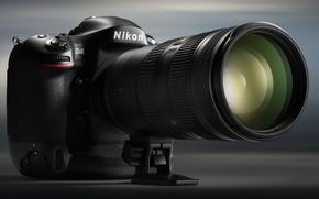Картинка фотоаппарат, объектив, Nikon D4