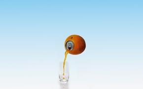 Картинка апельсин, сок, крышка