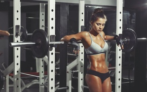 Картинка pose, workout, fitness, gloves, rest, transpiration