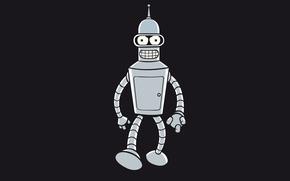 Картинка робот, Бендер, Футурама, Futurama, Bender Bending Rodriguez
