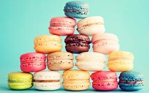 Обои пирожное, десерт, выпечка, сладкое, dessert, cookies, macaron, almond, макаруны