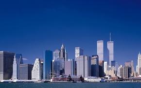 Картинка набережная, нью-йорк, близнецы