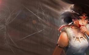 Картинка Девушка, Mononoke Hime, Princess Mononoke Принцесса Мононоке, もののけ姫