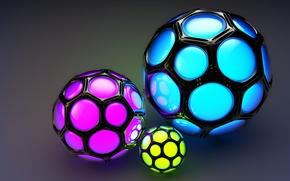 Обои фон, шары, цветные, соты, ячейки