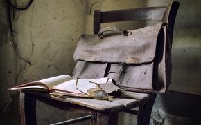 Картинка очки, стул, книга, портфель