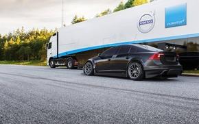 Картинка Volvo, Вольво, Black, S60, Задок, WTCC, Tracs