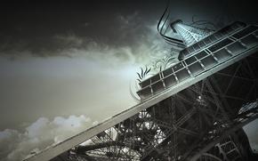 Картинка небо, эйфелева башня, Франция, Париж