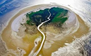 Обои природа, панорама, река, Фризские острова, Нидерланды