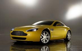 Обои авто, отражение, Aston Martin, Vantage