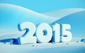 Картинка зима, снег, Новый год, New Year, Happy, 2015