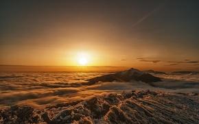 Картинка горы, рассвет, утро, Poland, Bieszczady National Park