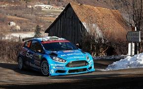 Картинка Ford, Поворот, WRC, Rally, Fiesta, Elfyn Evans