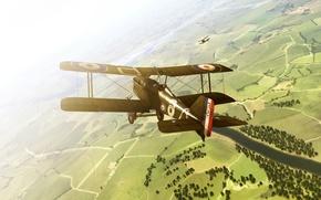 Картинка полет, самолет, rise of flight