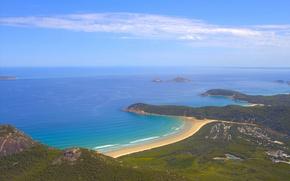Картинка небо, океан, берег, Австралия