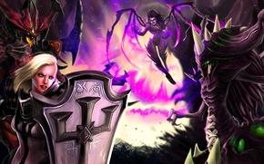 Обои Heroes of the Storm, sarah kerrigan, crusader, Crusader of Zakarum, Lord of Terror, Zagara, Broodmother ...