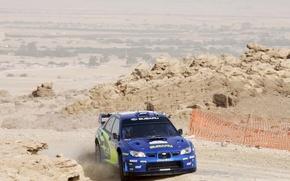 Картинка Синий, Subaru, Impreza, Мексика, Поворот, WRC, Субару, Solberg, Rally, Передок
