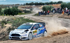 Картинка Ford, Пыль, WRC, Fiesta, Ott Tanak
