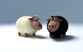 Обои овцы, барашек