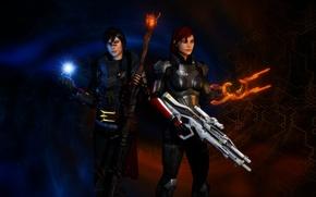 Картинка dragon age, mass effect 3, Shepard, Hawke