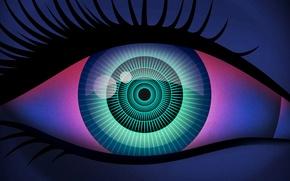 Картинка макро, глаз, зрачок, ресница