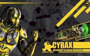 Картинка yellow, Mortal Kombat 9, cyborg, Cyrax