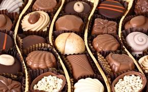 Обои сладости, конфеты, шоколад