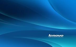 Картинка белый, линии, синий, стиль, фон, голубой, обои, минимализм, текстура, логотип, lenovo, леново