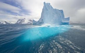 Картинка вода, синева, мороз, Айсберг