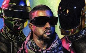 Картинка Thomas Bangalter, Music, Рисунок, Ги-Мануэл де Омем-Кристо, Арт, Музыка, Дафт Панк, Томас Бангальте, Kanye West, ...