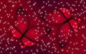 Обои свет, бабочки, красный, весна, Настроение