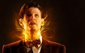 Картинка лицо, фантастика, арт, актер, мужчина, Doctor Who, Доктор Кто, Мэтт Смит, Matt Smith, Одиннадцатый Доктор, …