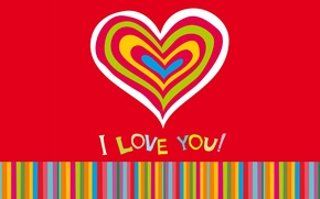 Обои любовь, colorful, сердечки, love, I love you, background, romantic, hearts, sweet