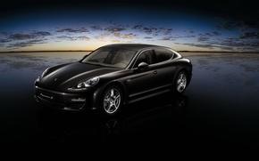 Картинка черный, Porsche, склад, Panamera