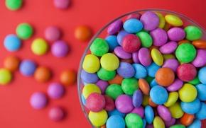 Обои m&m, сладости, конфетки, цветные, Sweets, Coloured
